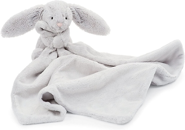 Jellycat Bashful Grey Bunny Baby Security Blanket