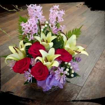 Rose, Lily & Hyacinth Bouquet
