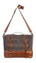 Mona B Soho Messenger Canvas Handbag M-3805