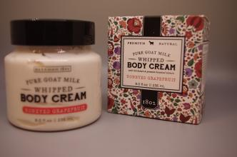 Beekman Pure Goat Milk Whipped Body Cream, Honeyed Grapefruit