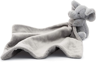Jellycat Bashful Grey Elephant Soother Baby Security Blanket