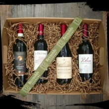 Red Wine Lover\'s (4 bottle) Gift Tray