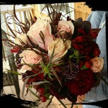 Burgundy and Pink Autumn Maid-of-Honor Bridal Bouquet