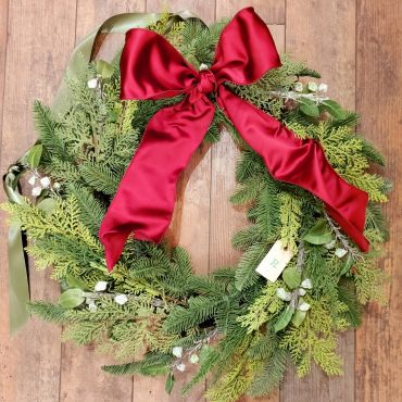 Christmas Wreath, Artificial Mixed Greens
