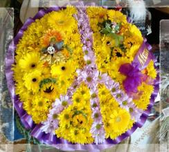 Peace Sign, Hippy Daisy, Sunflower & Fairies, Purple & Yellow