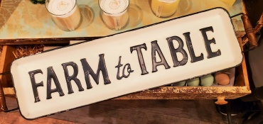 Farm-to-Table Metal Table Tray with Wood Handles