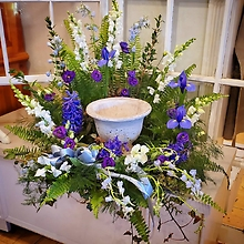 Urn Surround in Blue and White