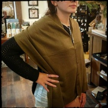 Simply Noelle Bordeaux Wrap, Olive