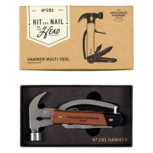Gentlemen\'s Hardware Hammer Multi-Tool, Wood and Stainless Steel