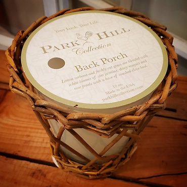 Park Hill Collection Scented Willow Candle Back Porch Scent