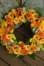 Autumnal Peach Wreath