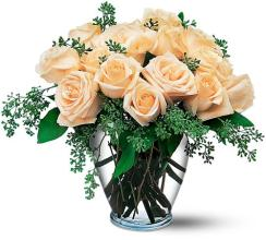White Roses (18 Vased and Dressed)