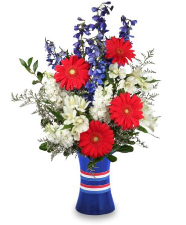 RED, WHITE & BEAUTIFUL BOUQUET