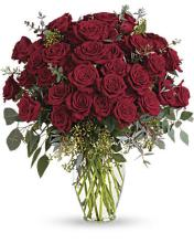 Four-dozen Red Roses Vased