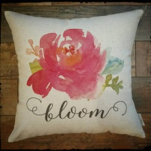 Bloom Inspirational Decor Pillow
