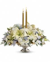 Silver And Gold Candle Centerpiece