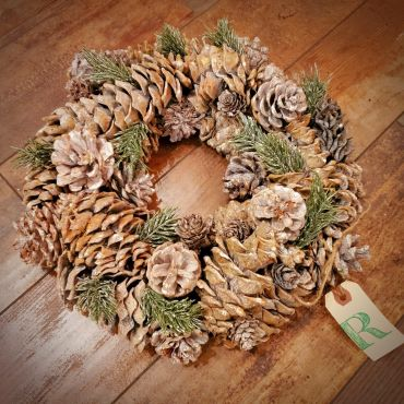 Pine Cone Wreath, Medium