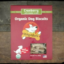 Wagatha\'s Organic Dog Biscuits, Cranberry Cheddar & Mint 16oz