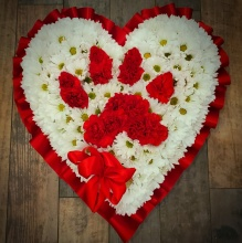 Dog Paw (on your) Heart, Red