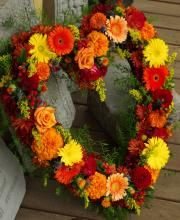 Autumn Heart Wreath