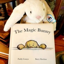 \'The Magic Bunny\' Book and Large Jellycat Bunny