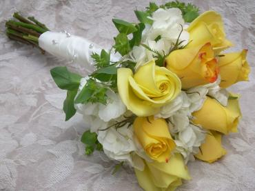 Bridal, yellow and white