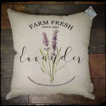 Lavender Inspirational Decor Pillow
