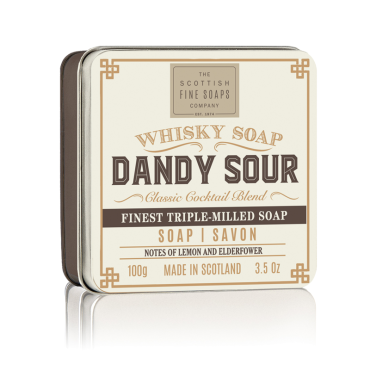 Dandy Sour Soap in Tin, Scottish Fine Soaps Co.
