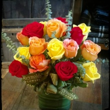 16 Fire Rose Bouquet