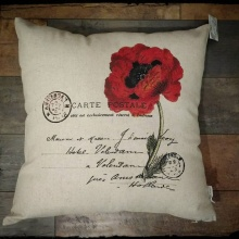 Poppy Inspirational Decor Pillow