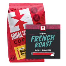 COFFEE LOVER\'S ORGANIC 3 PACK GIFT TRAY - French Roast