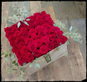 Luxury Rose Box with 3-1/2 Dozen (42) Red Roses