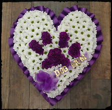 Dog Paw (on your) Heart, Purple