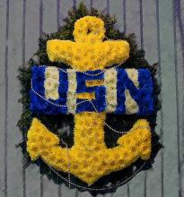 U. S. Navy Anchor, Insignia, Yellow & Blue