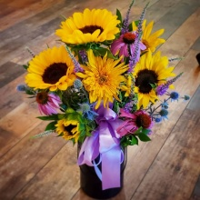 Sunflower Compliments Vase