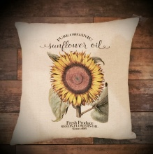 Sunflower Decor Pillow