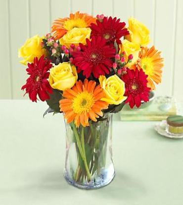 Best Wishes Rose and Gerbera Bouquet