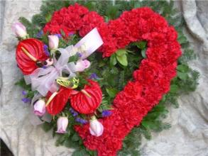 A Red Heart-shaped Wreath