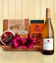 Sparkling Wine and Cheese Basket