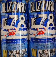 Blizzard of \'78 - English Brown, Wormtown Brewing