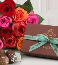 Premium Mixed Rose & Chocolate Bouquet