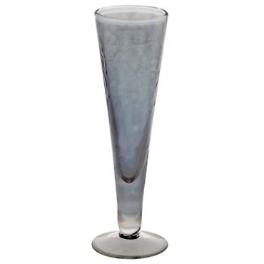 Hammered Champagne Flute, Gray