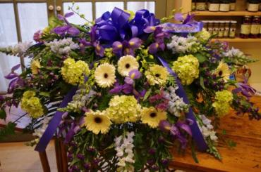 Hydrangea and Blue Casket Cover