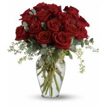 16 Premium Red Roses Vased
