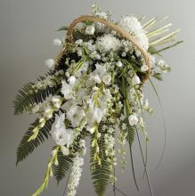 White Garden-picked Basket
