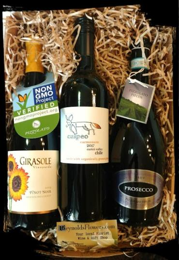 Organic Trio of Wine Gift Basket