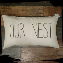Our Nest Inspirational Decor Pillow