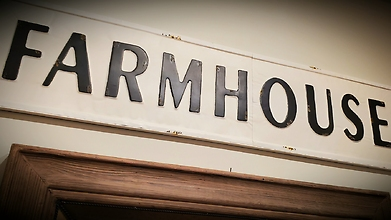 Farmhouse Sign, Metal