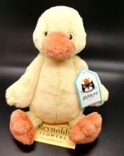 Small Yellow Bashful Duckling, JellyCat London