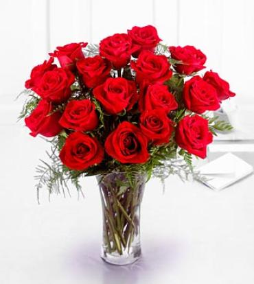 Premium 18 Long Stemmed Red Roses Bouquet